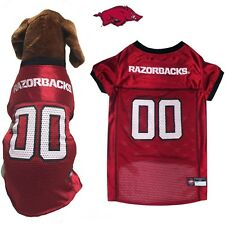 NCAA Pet Fan Gear ARKANSAS RAZORBACKS Jersey Shirt Tank for Dog Dogs Puppy XS-XL