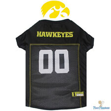 NCAA Pet Fan Gear IOWA HAWKEYES Dog Jersey Shirt Tank for Dogs BIG SIZE XS-2XL