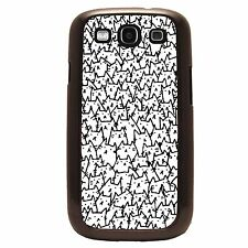 Cat Case For Samsung Galaxy S5 S4 S3 Note 2 - Tons Of  Cats - Black Or White