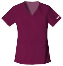 Cherokee Scrubs Flexibles V Neck Scrub Top 2968 Wine