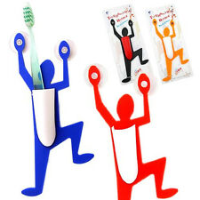 5 Pcs Funny Cute Spider Glass Tile Suction Superman Toothbrush Holder Easy Home
