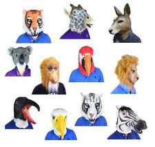 Overhead Latex Zoo Wild Safari Animal Masks Fancy Dress Stag Party Costume Mask