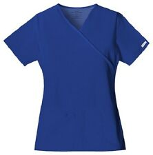 Cherokee Scrubs Flexibles V Neck Scrub Top 2824 Galaxy Blue