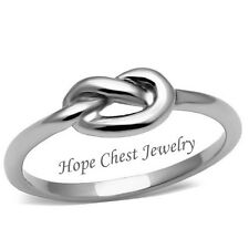 WOMEN'S SILVER TONE STAINLESS STEEL INFINITY KNOT RING - SIZE 5 - 10