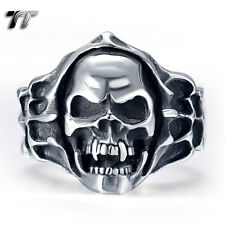 High Quality TT 316L Stainless Steel Rocky Skull Ring Size 8-13 (RZ05)