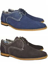 Men's Real Leather Suede Casual, Smart Desert Shoes Lace-Up UK 6-11