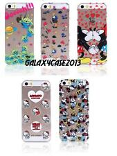 Cute ! Disney Colorful Transparent Clear Hard Back PC Case Cover For iPhone 5 5S