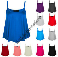 Ladies Vest Tops Plus Size Women Summer Cami Stretch Vest Tops Size 8-26