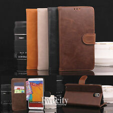 Flip Wallet PU Leather Stand Set Skin Case Phone Cover