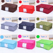 Foldable Waterproof  Blanket Clothing Storage Box Container Orangizer Bag Char