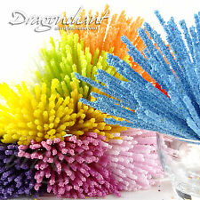 Fiore ARTIFICIALE stamen BALL STICK Sugarcraft Card Making Millinery TORTA
