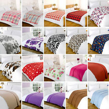 Luxurious Fleece Throw Blankets 120x150cm - Multiple Designs and Colours