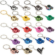 New Quality Metal Turbo Charger Key Ring Fob Keyring Keychain 17 Colours
