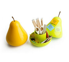 Cute Pear Pod Shape Desk Organizer Desktop Storage Box Bin Stationery Pen Holder