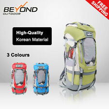 Camping Hiking Backpack 70L+10L Waterproof Come with Rain Cover Korean Material