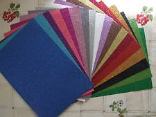 5 SHEETS PREMIUM GLITTER CARD  - 18 COLOURS EXCELLENT QUALITY - by Dovecraft