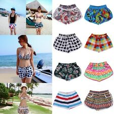 Women Lady Flower/Stripe Surf Boardshort Sport Beach Short Summer Swimwear Pants