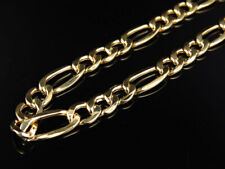 New Genuine 10k Yellow Gold Hollow Figaro Style Chain Necklace 8.5mm 24-36 Inch