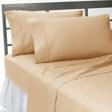 TAUPE SOLID FITTED/SHEET/DUVET SET/SKIRT 1000TC 100%COTTON CHOOSE ITEMS&SIZE