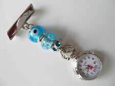 Nurses Fob Watch also for Care workers,Beauticians & Vets EVIL EYE £7.99