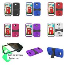 LG Optimus L90 / D415 T-Mobile Rugged Phone Case with BUILT in Screen Protector