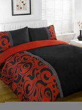 Barola Red Duvet Bedding Set - Single-Double-King Size-Super King Size