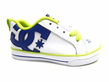 DC COURT GRAFFIK VULC WHITE BLUE  KIDS YOUTH SHOES