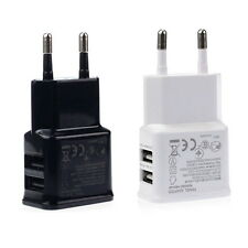 2A Dual 2Ports USB EU Wall Charger Adapter for Samsung iPhone HTC MOTO SY