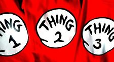 THING 1 THING 2 T SHIRTS 2 3 4 5 7 etc INFANT BODYSUIT TODDLER YOUTH ADULT SEUSS