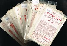 STOKE CITY Home Programmes 1964-65 to 1966-67 (99p each) Sale!