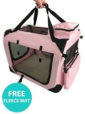 Folding Dog Cat Puppy Pet Travel Fabric Portable Carrier Kennel Crate Cage Bag