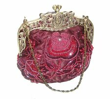 Sequined Beaded Antique Style Wedding Evening Formal Cocktail Clutch Prom Purse