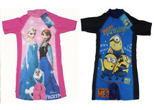 Boys Girls Swimwear Disney For Frozen Elsa&Anna Surfing Sunsafe Bathining 3-7Yrs
