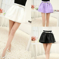 Hot Womens 3 Colors Organza Bubble Pleated Mini Skirt Above Knee Short Skirts