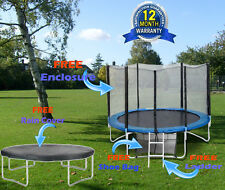 Brand New Trampoline With free Safety Net Enclosure Ladder RainCover8 10 12&14ft