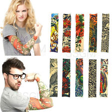 Tattoo Sleeves Fake Stretchy Arm Fancy Dress Costume Party Men Women Cool Gift