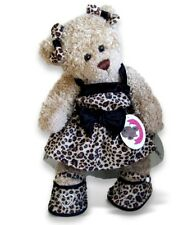 Build a Bear fit: Animal Print Dress 2 Ear Bows 15in Teddy Bear Clothes
