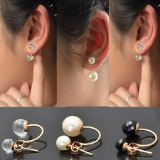3 Color New Korean Fashion Crystal Rhinestone Jewelry Earrings Ear Stud Earrings