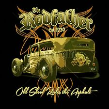 Old School Monster Rat Rod T-shirt Pinstripes Chopped Hot Rod S to 3XL Big Tall
