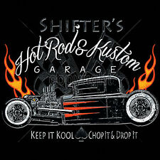 Cool Hot Rod T Shirts Rat Rods Flames Whitewalls Retro Jalopy S to 4XL Big Tall