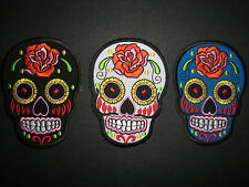 Sugar Skull Day Of The Dead Iron On Applique 3 Colours   Sewing/Craft / Costume