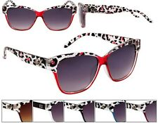 Designer Eyewear Gradient Colored Cheetah Print Sunglasses Trendy Summer Fashion