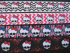 Monster High Ribbon 4 Designs 1 METRE Craft / Sewing / Cake Making