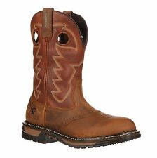 "Rocky Men's 11"" Original Ride Branson Saddle Roper Waterproof Western Boot-2775"