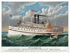 4444.The Grand New Steamboat.Pilgrim.flagship.POSTER.decor Home Office art