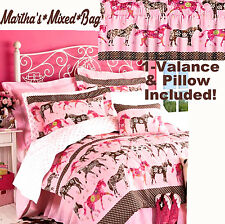 WESTERN HORSE Girls Flower Mustang PONY Pink Comforter Set Twin~Full~Queen Sizes
