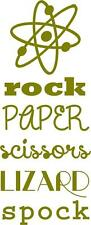 "Big Bang Theory Vinyl Decal - ""Rock Paper Scissors Lizard Spock"" 