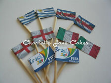 20 CUPCAKE FLAGS/TOPPERS - FIFA WORLD CUP GROUP D