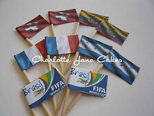 20 CUPCAKE FLAGS/TOPPERS - FIFA WORLD CUP GROUP E