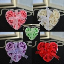 6 Multiple Colors Available! Rosebud Soaps in Heart Gift Box with Ribbon
